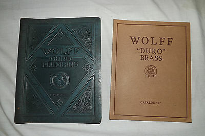 1928 & 1931 WOLFF DURO PLUMBING CO. CATALOGS Chicago, Ill.