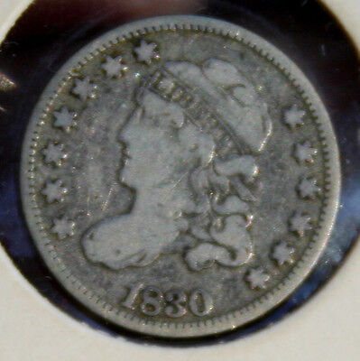 1830 Draped Bust Silver Half Dime F Nice Early Coin Combined Shipping!!!