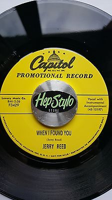 Jerry Reed 45 Re - When I Found You/i've Had Enough- Superb Capitol Classic Rab
