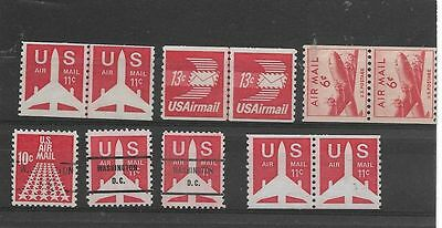 Collection Of Airmail  Coils And Single Stamps