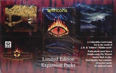 Middle Earth Iron Crown Card Game MECCG The Dragons Booster Box 36 Packs