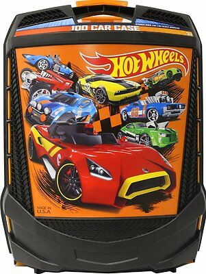 Hot Wheels 100 Car Toy Carrying Case Matchbox Box Storage Handle Tote Roller