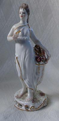 Samson Meissen Figure Of Classical Female With Knife And Flowers