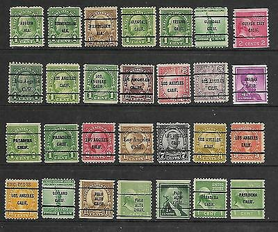 Collection Of Used Usa Buro Precanceld Stamps