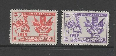 AFGHANISTAN 1959 41st INDEPENDENCE DAY Both Stamps MINT NEVER HINGED