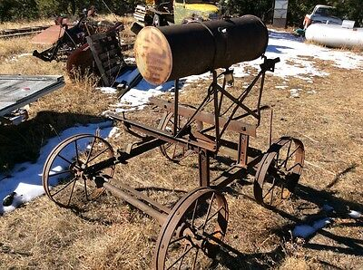 Old hit and miss engine truck cart steel and cast iron wheels