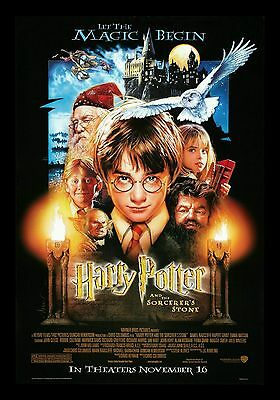 """harry Potter & The Sorcerer's Stone"" Original Usa Double Sided Poster Framed"