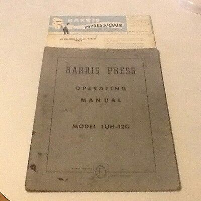 Operating Manual For The Harris Offset Press-Model Luh-120