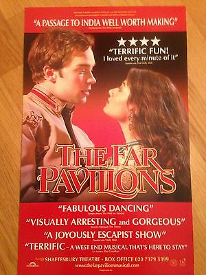 THE FAR PAVILIONS Press Quotes Shaftesbury Theatre poster