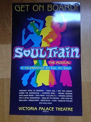SOULTRAIN THE MUSICAL, VIctoria Palace Theatre poster