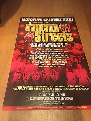 DANCING IN THE STREETS, Cambridge Theatre Poster 2005