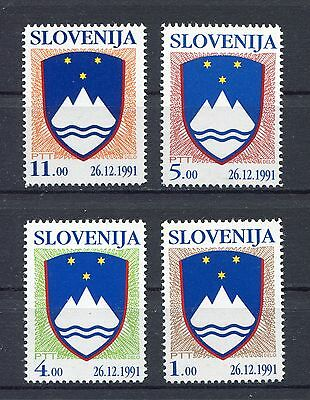 s12207) SLOVENIA SLOVENIJA MNH** 1991, Definitives, state coat of arms 4v