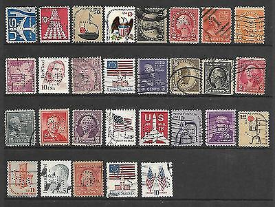 Collection Of Used Usa Perfin Stamps