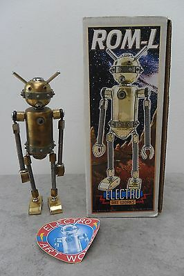 Rare Bizarre Electro Art Works ROM-L Robot Sculpture by Andy Hill Box
