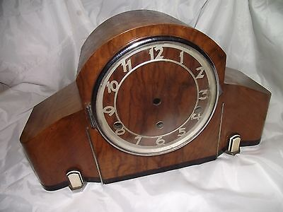 Vintage  wood empty mantle clock case - parts spares.