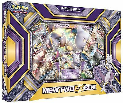 Mewtwo EX Box Pokemon Booster Gift Box Free USA Shipping 4 Boosters, 2 Foils