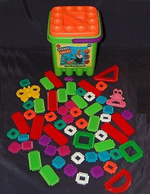 Stickle Bricks With Tub Complete  Excellent!