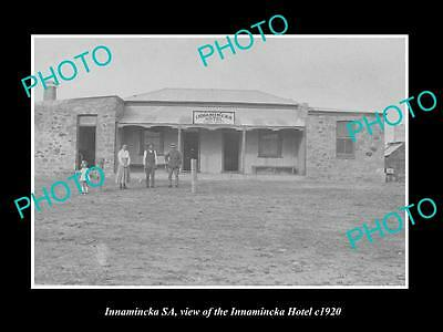 OLD LARGE HISTORIC PHOTO OF INNAMINCKA SOUTH AUSTRALIA, THE TOWN HOTEL c1920