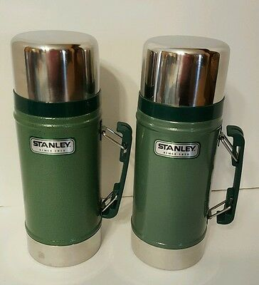 Aladdin Stanley Classic Vacuum Green Wide Mouth Thermos 24 Oz Lot Of 2