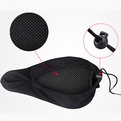 Bicycle Saddle Comfortable Silicone Gel Seat Cover Cushion Soft Pad