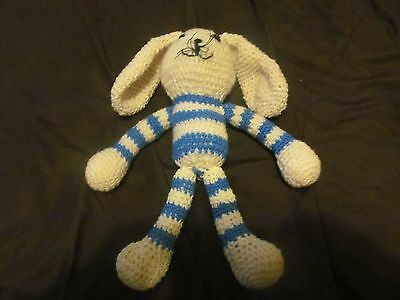 New hand made Bunny, blue and ivory colours