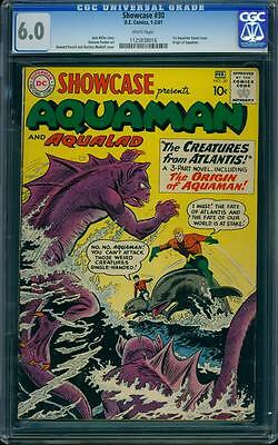 Showcase 30 CGC 6.0 White Silver Age Key DC Comic Aquaman Tryout Issue IGKC L@@K