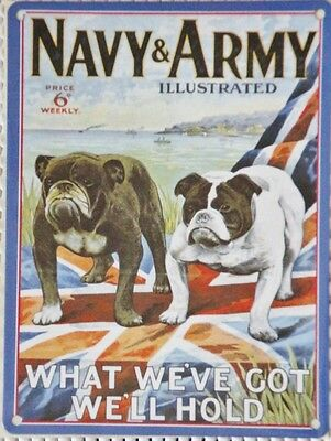 """Navy & Army Illustrated repo metal wall sign 8"""" X 6"""""""