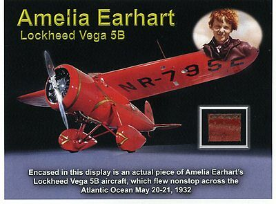 Amelia Earhart - Authentic Piece of Earhart's Historic Vega 5B Aircraft! Wow!!!
