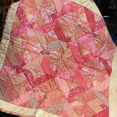 Sweet PINK GIRL'S BABY QUILT 45X45