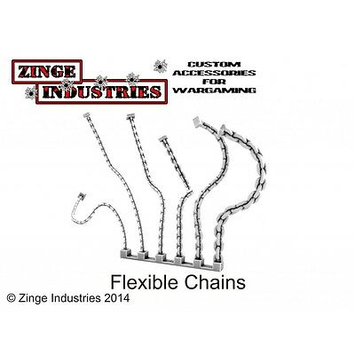 Zinge Industries Flexible Chain Set of 6 Various Poseable Resin New Bits S-CHA01