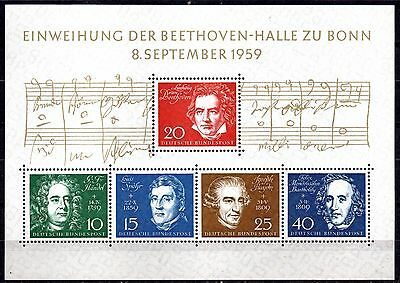 Germany  MS1233a - BEETHOVEN  - MINT NEVER HINGED - PRISTINE  st