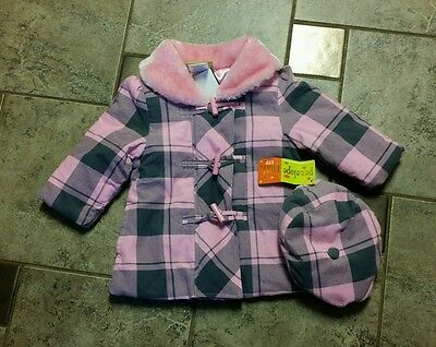 Baby Girl 2T NWT pink jacket and hat by Penelope Mack LTD