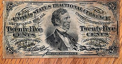 1863 25 cent Fractional Currency - Check the High Quality Scans