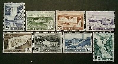 ICELAND Complete Set Power Stations and Waterfalls 1956 MNH