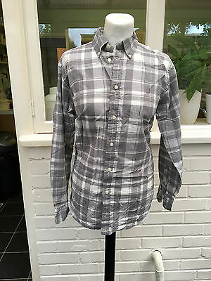 Ralph Lauren Polo boys size L age 14-16 long sleeved grey & white checked shirt