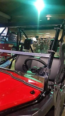 """Honda Pioneer 500 Clear Front Folding Windshield.. A Full 1/4"""" THICK!!!"""