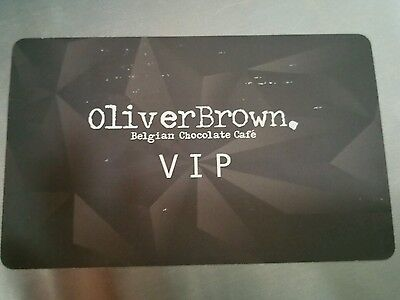 oliver brown VIP card gives you 15% off at any Oliver brown store- not gift card
