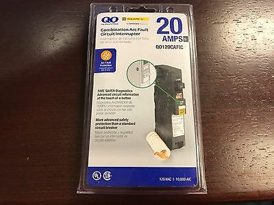 **NEW** Square D 20-Amp 1-Pole Circuit Breaker (Mo. QO120CAFIC) w/ PIGTAIL