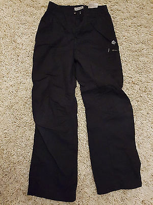 Craghoppers Boy's Black Lined Trousers Adjustable Waist aged 9-10 years