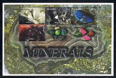 Gambia  2003  Sc #2782  Minerals  s/s  MNH  (3-2431)