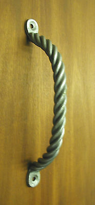 1 in.Dia.Wrought Iron,Twisted Rope Door Pull,Handle, Forged by Blacksmiths