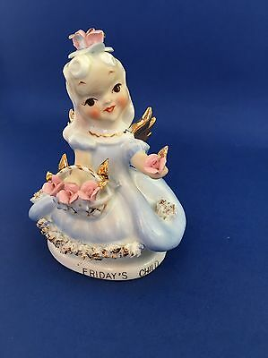 Lefton Friday's Child China Figurine Excellent Condition