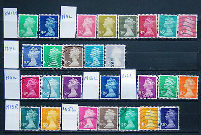 Great Collection Of Used High Value Security GB Machin Definitives..