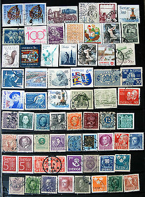 Fine Collection of Different Used Swedish Stamps.