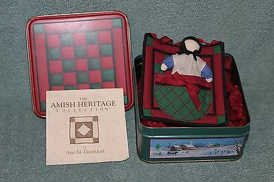 PATCH QUILT WITH DOLL The Amish Heritage Coll 1st Edition in series of 4 SIGNED
