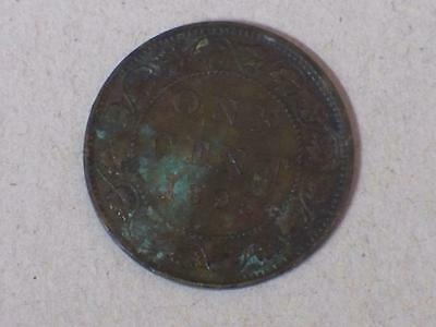 1895 VICTORIA LARGE CANADIAN CENT EXTRA FINE CORROSION #6364 glcm
