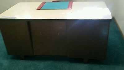 Vintage Mid Century STEELCASE Tanker Industrial Desk with unique side door