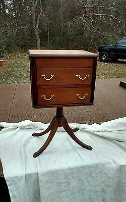 Antique Wood Sewing Cabinet