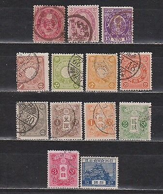 Japan / Nippon - 1883-1926 - 13 Different Stamps