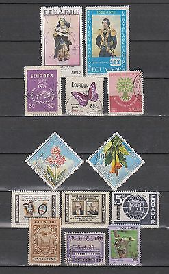 Ecuador / Equador - 1884- 1993 - 13 Different Stamps - Mng/used